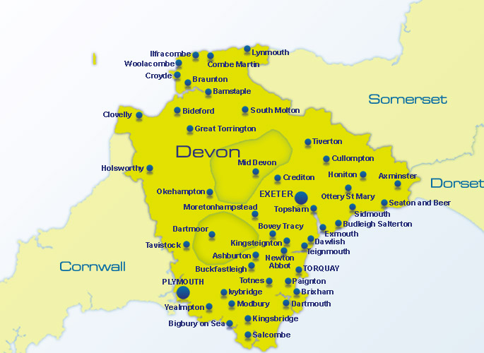 Search for a Place to Eat in Devon