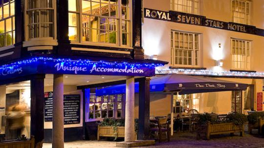 The Royal Seven Stars Restaurant and Bar Totnes.